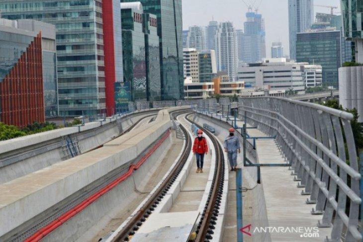 Following health protocol, Adhi Karya continues Jabodebek LRT project