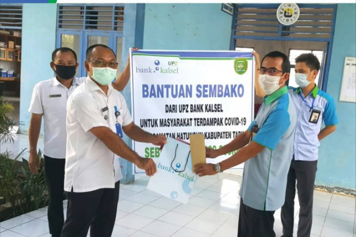 UPZ Bank Kalsel berikan bantuan sembako warga terdampak COVID-19