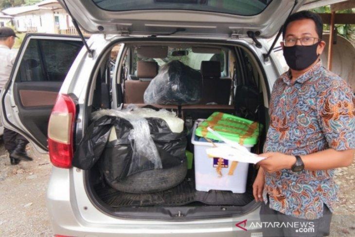Mobil berisi 30 kg ganja ditemukan di jalan menuju PLTA Nagan Raya, pemilik belum diketahui