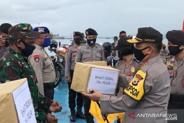 Kapolda Maluku  penyaluran bantuan bukan cari popularitas TNI - Polri