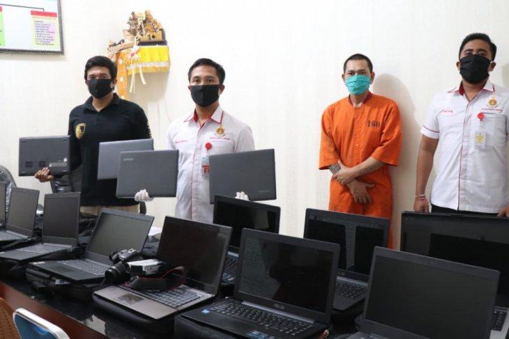 Terancam 7 tahun, Residivis curi belasan laptop sekolahan di Denpasar