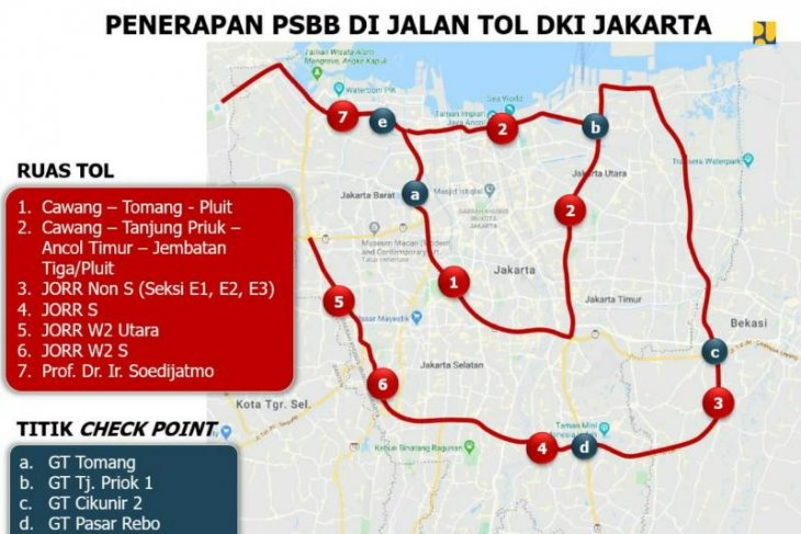 Traffic plummets on Jakarta, West Java, and Banten toll roads