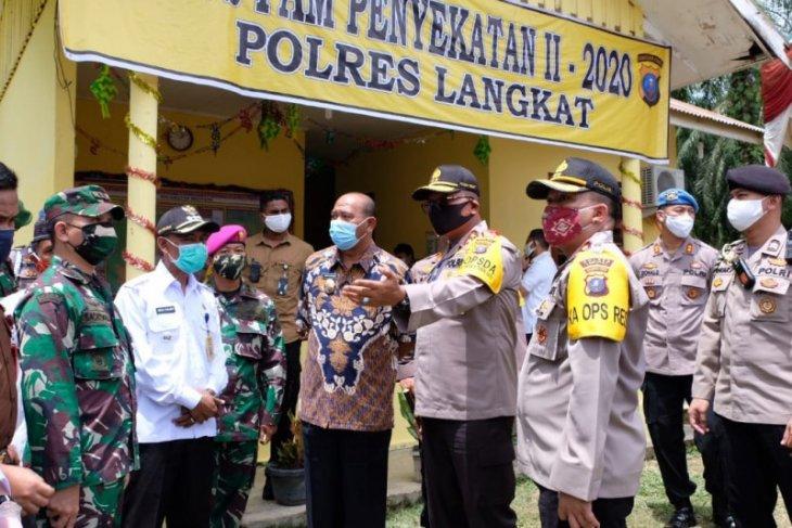 Kapolda pantau kesiapan pos check point perbatasan Sumut-Aceh