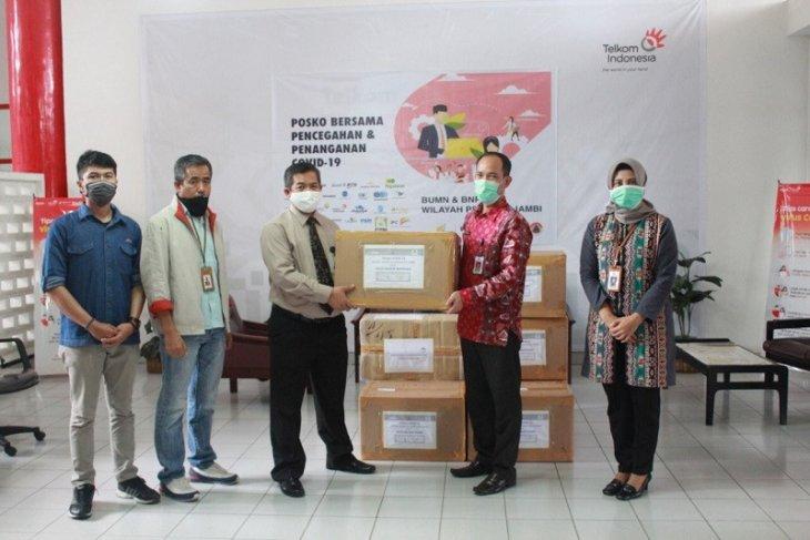 Satgas Bencana BUMN Jambi serahkan bantuan APD ke RS Raden Mattaher dan Kambang