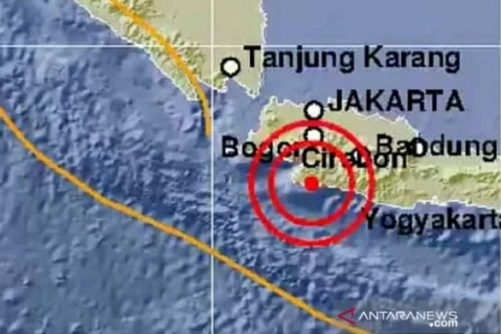 Gempa magnitudo 4,4  di Kabupaten Sukabumi