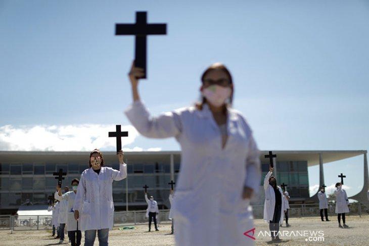 Brazil catat lonjakan terbesar jumlah kematian akibat  COVID-19