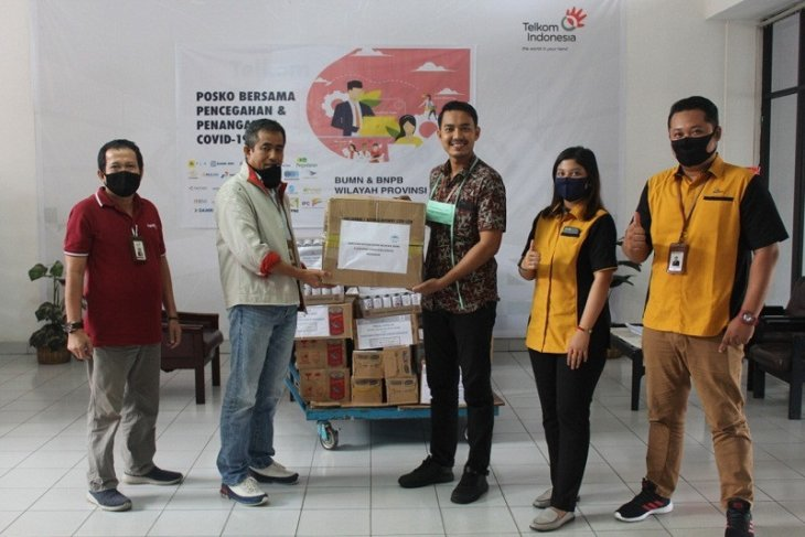 Satgas Bencana BUMN Jambi kirimkan bantuan APD dan vitamin ke Merangin