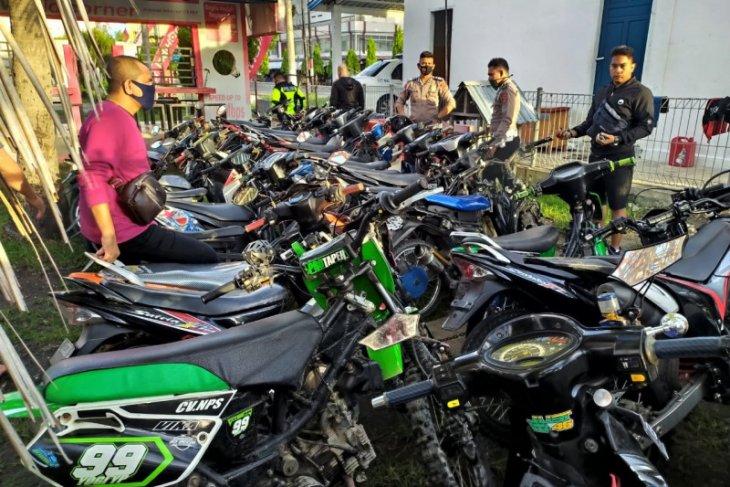 136 sepeda motor balap liar diamankan polisi