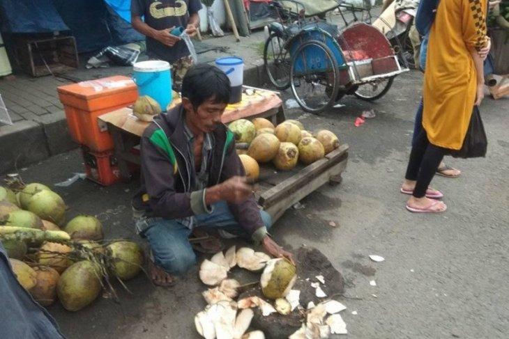 Pedagang datangkan kelapa muda dari Lebak selatan karena permintaan meningkat