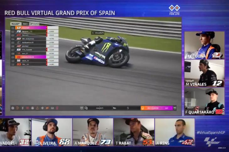 Maverick Vinales raih kemenangan perdana Yamaha di balapan virtual MotoGP