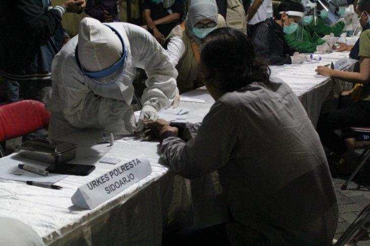 250 orang terjaring langgar jam malam PSBB di Sidoarjo