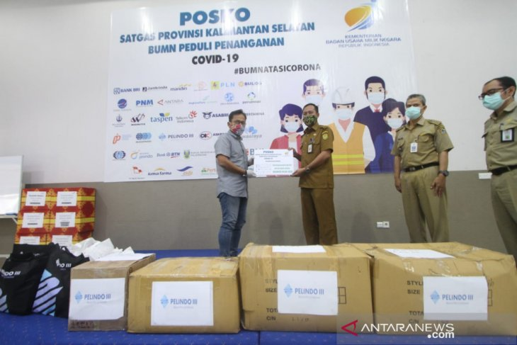 Satgas Kalsel BUMN Peduli donasikan 11.047 APD guna penanganan COVID-19