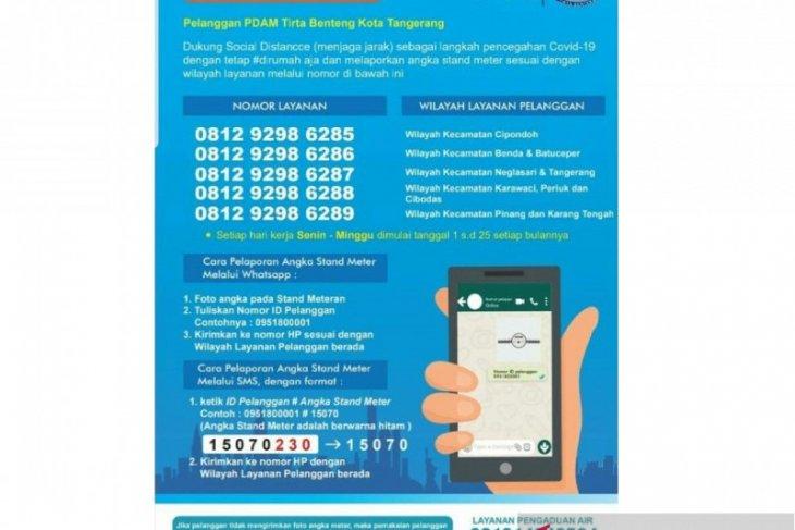 PSBB diberlakukan, PDAM Tangerang cek stand meter terpaksa secara online