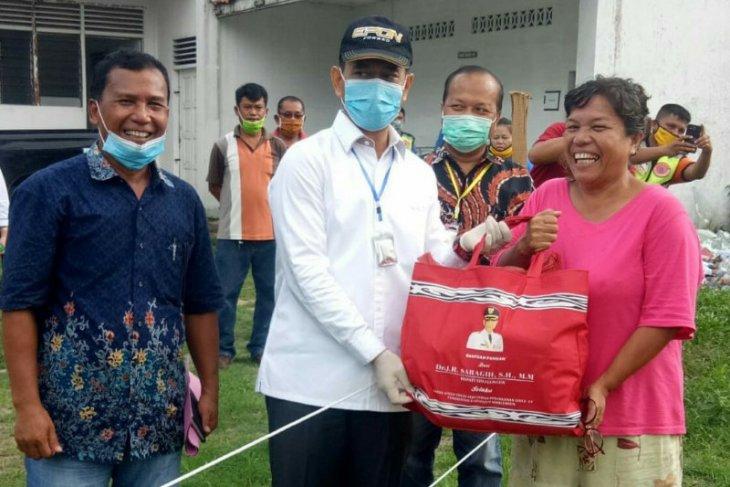 Bantuan Pangan terdampak COVID-19 dari Pemkab Simalungun mulai disalurkan