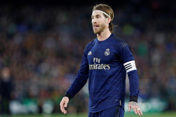 Kapten Real Madrid Sergio Ramos ingin Liga Spanyol segera bergulir