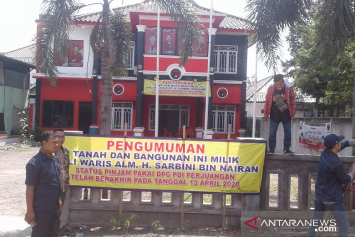 Kantor DPC PDI Perjuangan disegel ahli waris