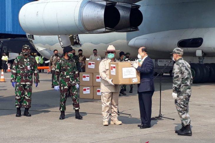 Lagi, Prabowo terima bantuan alkes dari China