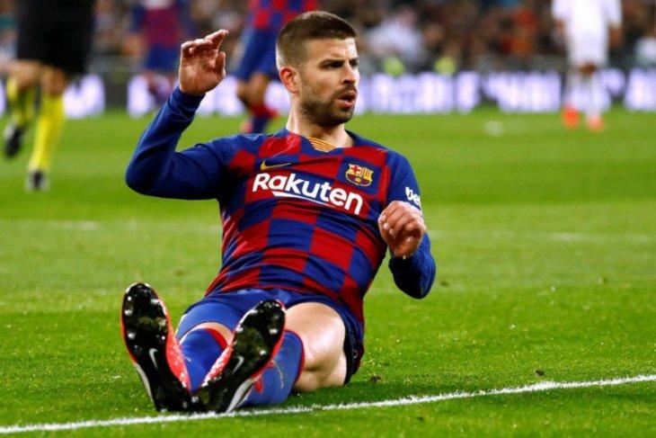 Liga Spanyol - Bek Barcelona Gerard Pique tak terima jika musim ini dibatalkan