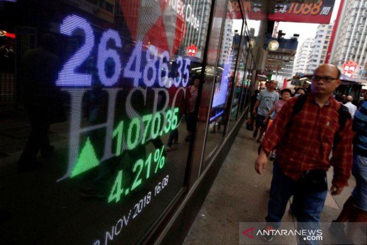 Saham Hong Kong dibuka menguat, indeks HSI naik 0,23 persen