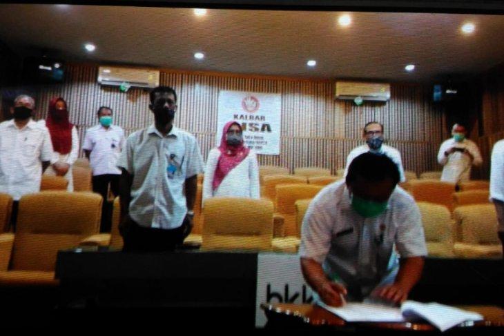 Kepala BKKBN Kalbar menandatangani hasil penyesuai DIPA TA 2020