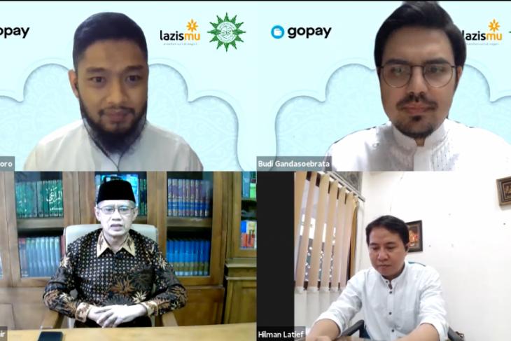 GoPay gandeng Muhammadiyah permudah umat bantu sesama lewat zakat digital