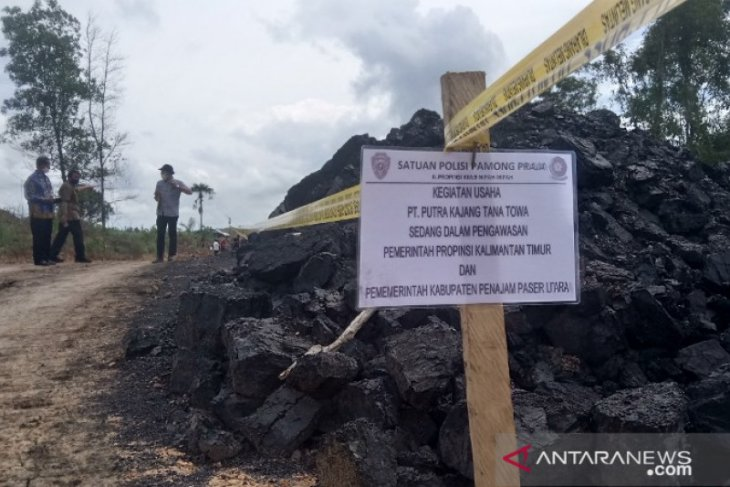 Operasi tambang batu bara tanpa izin di Penajam dihentikan