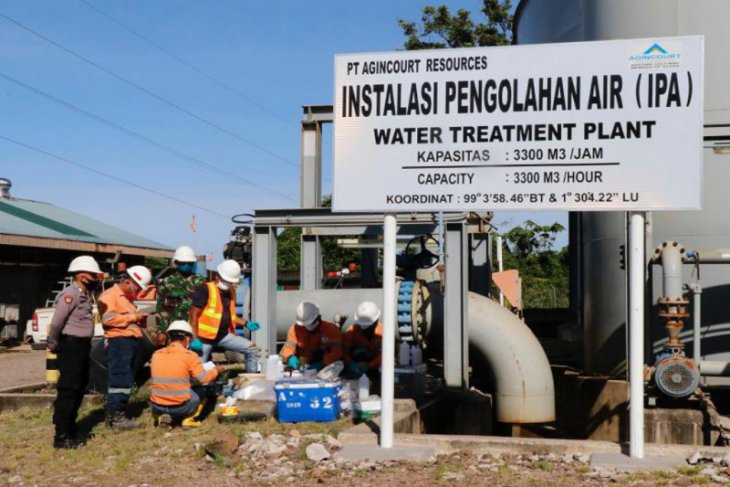 Tambang Emas Martabe lakukan pengawasan dan pemantauan air sisa proses