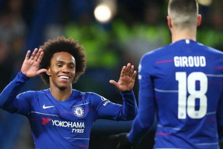 Liga Inggris - Pelatih Chelsea Frank  Lampard ingin Giroud dan Willian bertahan hingga musim selesai