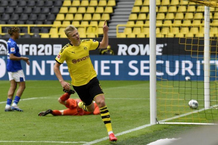 Pemain Borussia Dortmund Haaland tak kaget bisa jebol gawang Schalke
