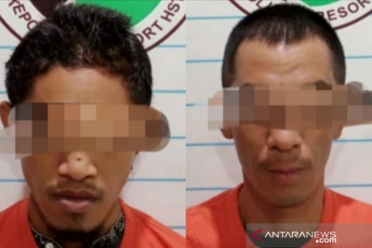 Inilah dua tersangka Narkoba yang ditangkap di Komplek Griya Mandingin Barabai