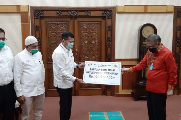 PTPN XIII sumbang Rp100 juta dan APD melalui Pemprov Kalbar
