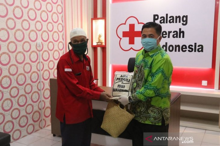 Donor darah di Banjarmasin memperoleh Sembako