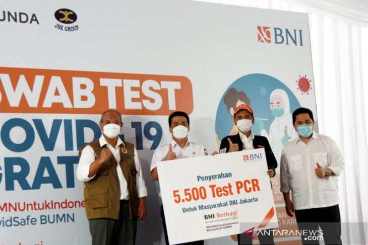 BNI tes swab gratis untuk 30 ribu orang