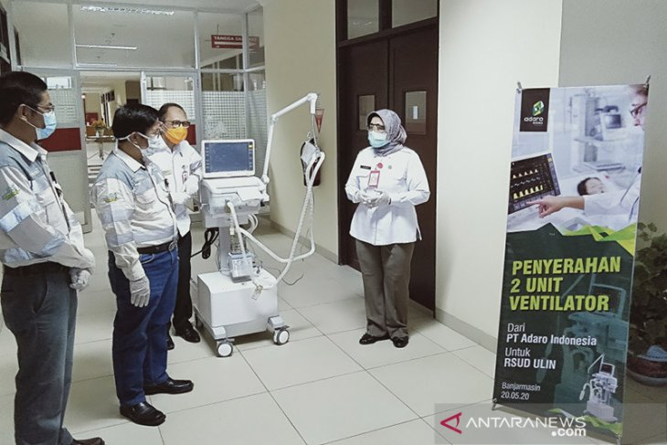 PT Adaro brings in two imported ventilator for Ulin Hospital