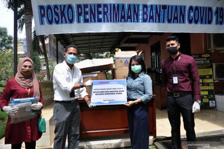 Satgas Bencana BUMN Sumut salurkan bantuan untuk tenaga medis RSUP H Adam Malik