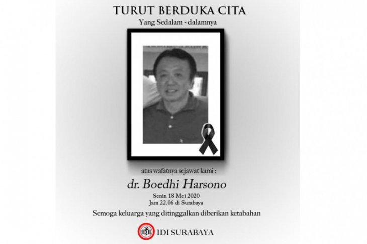 Boedhi Harsono dokter kedua meninggal dunia positif COVID-19 di Surabaya