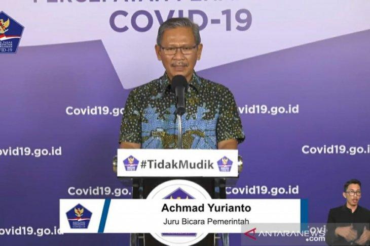 Jubir: Pasien sembuh dari COVID tambah 263 jadi 4.838 orang