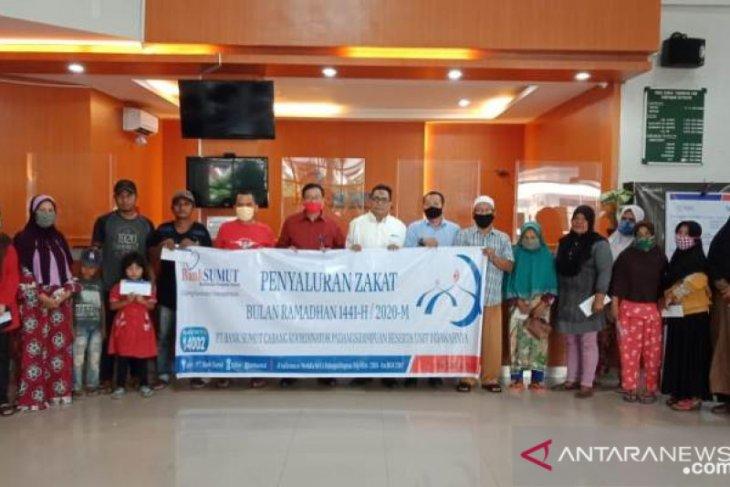 PT Bank Sumut Padangsidimpuan salurkan zakat