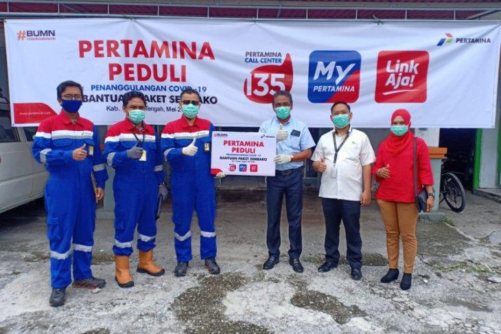 PT. Pertamina peduli serahkan bantuan tanggap COVID-19 di Maluku