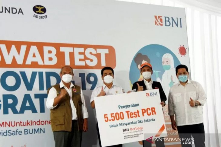 BNI adakan tes swab gratis untuk 30 ribu orang, deteksi cegah COVID-19