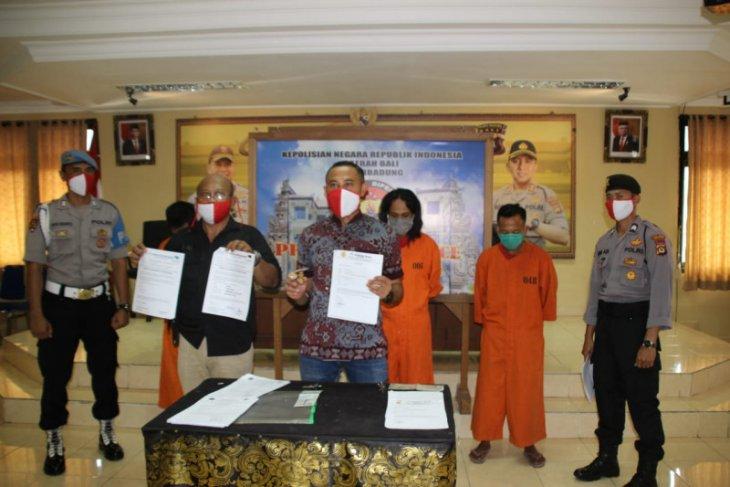 Polres Badung tahan tiga tersangka pemalsuan surat-dokumen