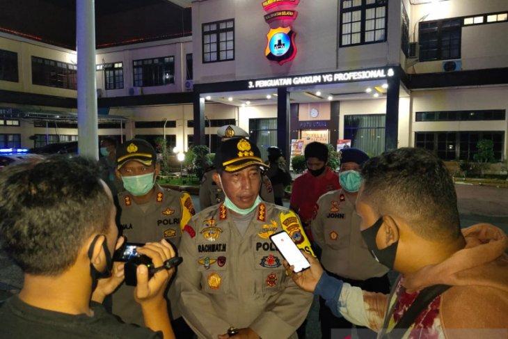 Hari pertama PSBB jilid 3, Kapolresta Banjarmasin pimpin patroli skala besar
