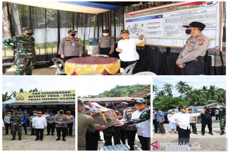 Kapolres - Bupati - Dandim Tapanuli Selatan pantau Pos Pam ketupat toba 2020