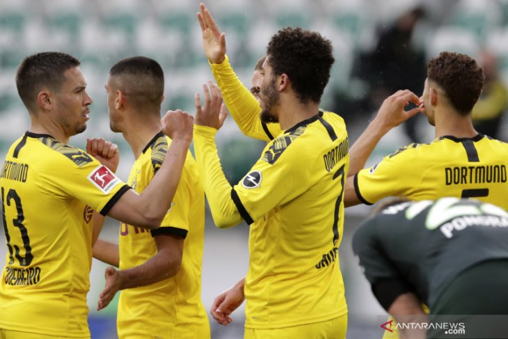 Liga Jerman, Dortmund lanjutkan catatan bagus dengan tundukkan Wolfsburg