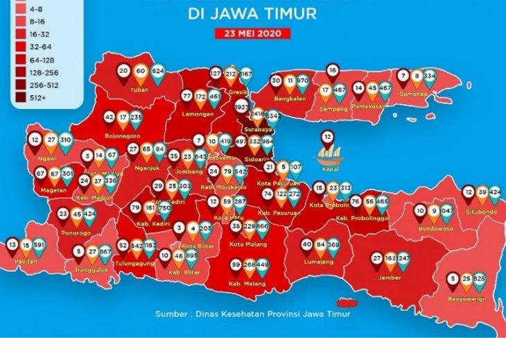 Jatim tambah 473 kasus COVID-19, Surabaya dekati 2.000 pasien positif