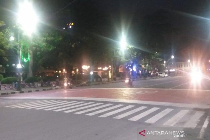 Kota Medan sepi saat malam takbiran