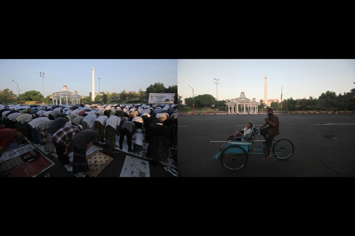Shalat Idul Fitri sebelum dan saat pandemi COVID-19