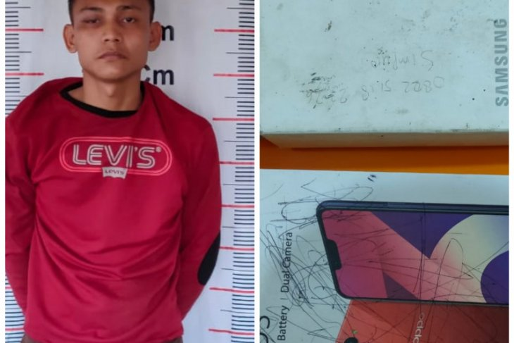 Polisi Pangkalan Brandan Langkat tangkap pencuri dua handphone