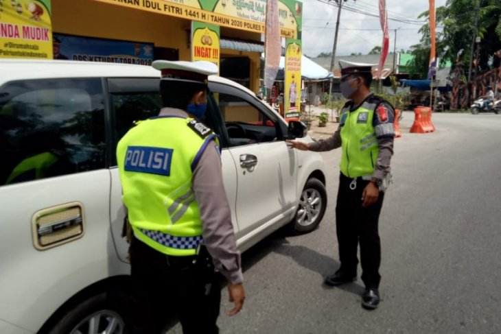 Polres Tanjung Balai lakukan  pemeriksaan ketat kendaraan pemudik