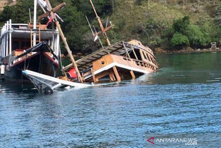 Pariwisata lesu, kapal wisata di Labuan Bajo rusak dan tenggelam tak terurus